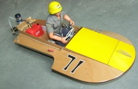 Saucy Shingle 1:5,2 scale outboard