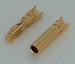 Gold plug 2mm