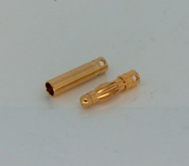Gold plug 4mm long