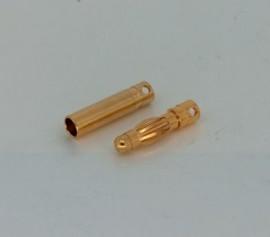 Gold plug 4mm long