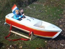 Jersey Skiff for Zenoah Power quarter scale