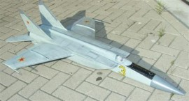 Mig25 Foxbat for edf 90mm