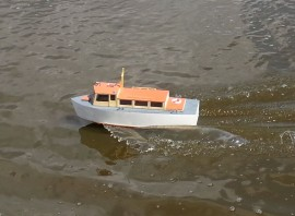 Bobby vintage rc model boat