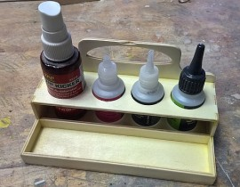 CA glue tray