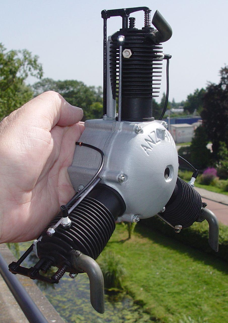 GroBartig Anzani 3cilinder 1:4 Scale Motor